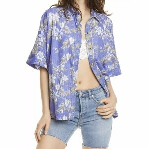 [Free People] NWT Love Letters Button Front Shirt